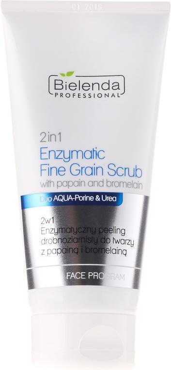 Scrub cu grăsime minerală enzimatică pentru față 2 în1 cu papain și bromelin - Bielenda Professional Face Program 2in1 Enzymatic Fine Grain Scrub