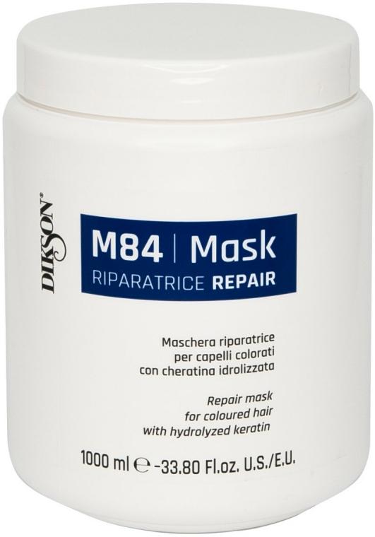 Mască cu cheratină hidrolizată pentru păr vopsit - Dikson M84 Repair Mask — Imagine N1