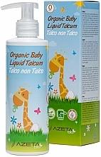 Parfumuri și produse cosmetice Cremă cu talc lichid, pentru bebeluși - Azeta Bio Organic Baby Liquid Talcum