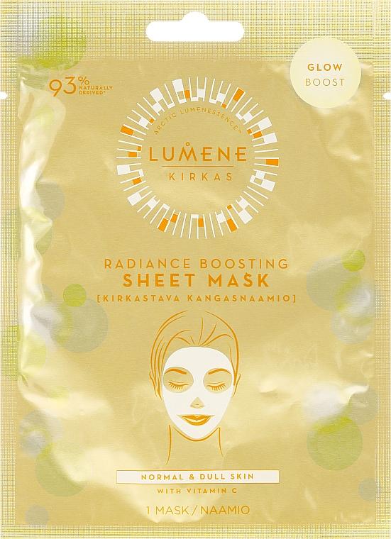 Mască de față - Lumene Kirkas Radiance Boosting Sheet Mask — Imagine N1