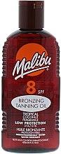 Parfumuri și produse cosmetice Ulei de corp - Malibu Bronzing Tanning Oil with Tropical Coconut Fragrance SPF 8