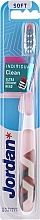 Parfumuri și produse cosmetice Periuță de dinți, moale, cu capac de protecție, alb-bej - Jordan Individual Clean Soft