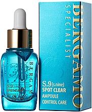 Parfumuri și produse cosmetice Ser pentru strângerea porilor - Bergamo S-9 Spot Clear Ampoule Control Care