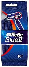 Parfumuri și produse cosmetice Set aparate de ras de unică folosință, 10 bucăți - Gillette Blue II Disposable Men's 2-Blade Travel Razors with Razor Blades