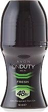Parfumuri și produse cosmetice Deodorant-Antiperspirant - Avon On Duty Men Fresh 48H Anti-persrirant Roll-On