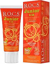 """Parfumuri și produse cosmetice Pastă de dinți """"Curcubeu de fructe"""" - R.O.C.S. Junior"""