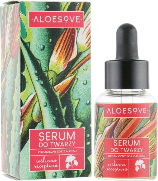 Ser facial cu extract organic de aloe - Aloesove