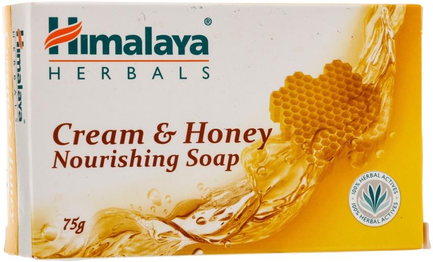 Săpun-cremă pentru pielea normală și uscată - Himalaya Herbals Cream Honey Soap — Imagine N1