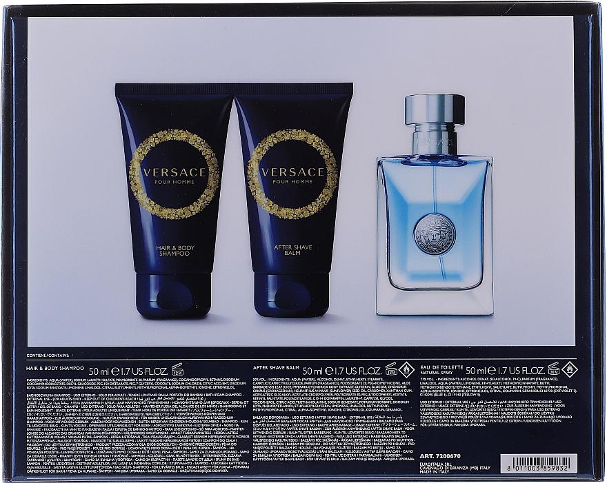 Versace Pour Homme - Set (edt/50ml + sh/g/50ml + ash/balm/50ml) — Imagine N4