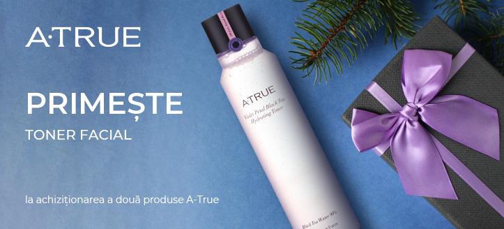 Primește cadou un toner facial, la achiziționarea a două produse A-True