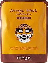 """Parfumuri și produse cosmetice Mască de țesut pentru față în stil bestial """"Tiger"""" - Bioaqua Animal Tiger Supple Mask"""