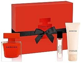Parfumuri și produse cosmetice Narciso Rodriguez Narciso Rouge - Set (edp/90ml + b/lot/75ml + edp/10ml)