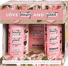 Parfumuri și produse cosmetice Set - Love Beauty&Planet Muru Muru Butter&Rose Set (sh/gel/500ml + mask/29.7g + b/lot/400ml)