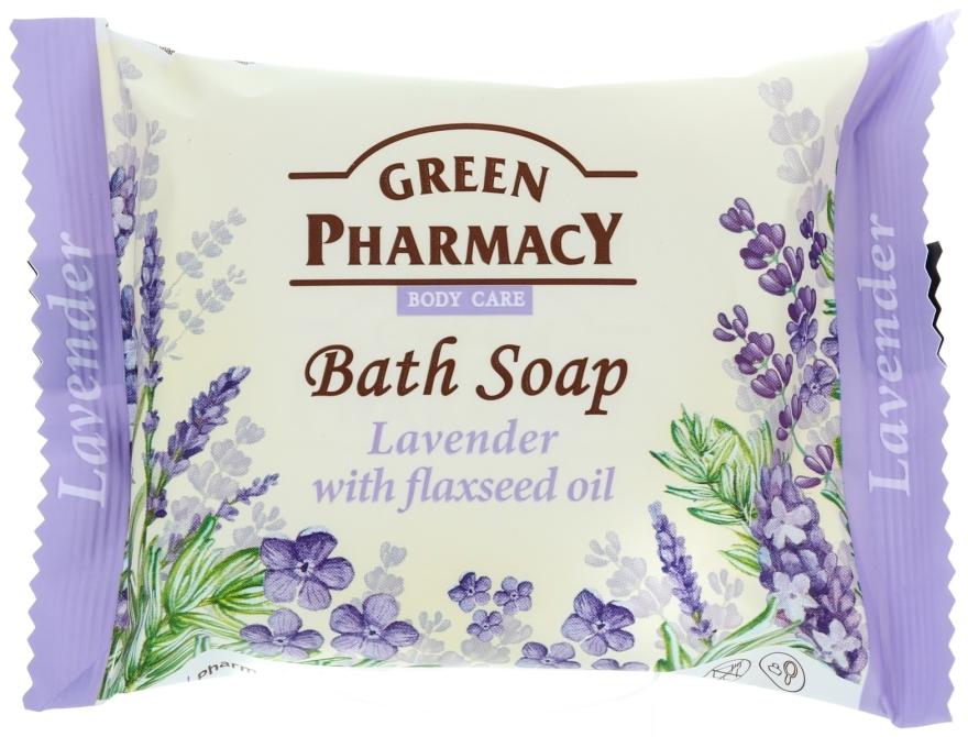 """Săpun """"Lavandă cu ulei de in"""" - Green Pharmacy — Imagine N1"""