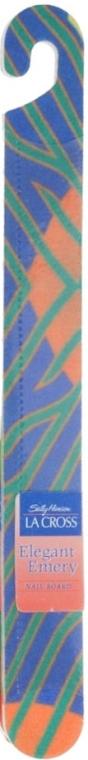 Pilă de unghii 18 cm, albastru-verde și portocaliu - Sally Hansen La Cross Elegant Emery Nail Shaper