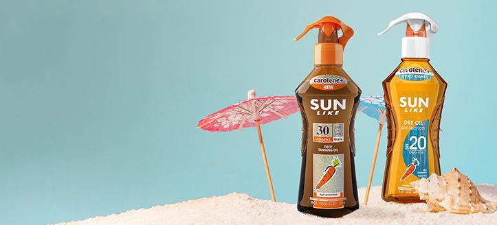 Reducere la produsele promoționale Sun Like. Prețurile pe site sunt prezentate cu reduceri