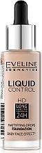Parfumuri și produse cosmetice Fond de ten - Eveline Cosmetics Liquid Control HD Mattifying Drops Foundation (tester)