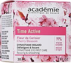 Parfumuri și produse cosmetice Cremă cu efect de netezire pentru zona ochilor - Academie Time Active Cherry Blossom Dynastiane Eye First Care