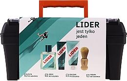 Parfumuri și produse cosmetice Set - Lider Classic Tool Box Set (ash/lot/100ml + sh/cr/65g + ash/balm/100ml + sh/brush + case)