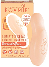 Parfumuri și produse cosmetice Săpun facial pentru tenul normal și gras - Foamie Exfoliating Face Bar For Normal to Oily Skin