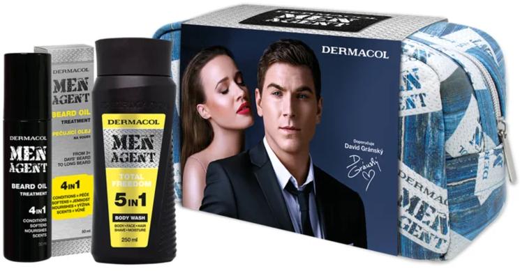 Set - Dermacol Men Agent (b/wash/200ml + beard/oil/50ml + bag) — Imagine N1