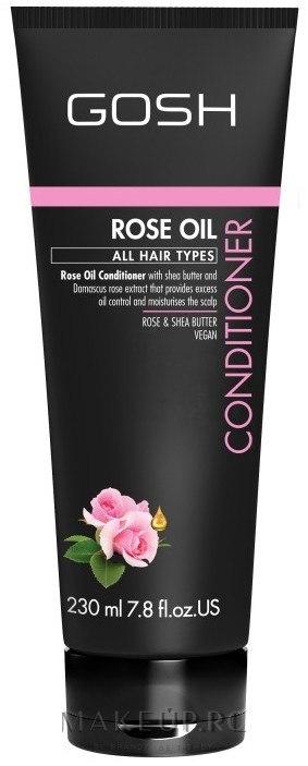 Balsam cu ulei de trandafir pentru păr - Gosh Rose Oil Conditioner — Imagine 230 ml