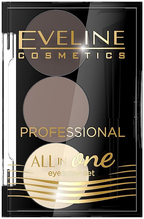 Set pentru make-up și stilizarea sprâncenelor - Eveline Cosmetics All In One Eyebrow Styling Set