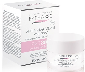 Cremă împotriva primelor riduri - Byphasse Anti-aging Cream Pro30 Years Vitamin C