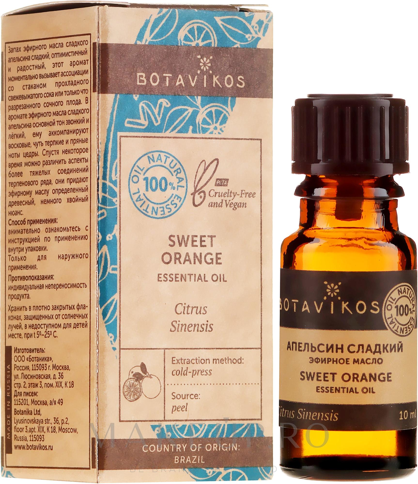 "Ulei esențial ""Portocală"" - Botavikos Orange Sweet Essential Oil — Imagine 10 ml"