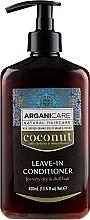 Parfumuri și produse cosmetice Balsam fără clătire pentru păr uscat și deteriorat - Arganicare Coconut Leave-In Conditioner For Very Dry & Dull Hair