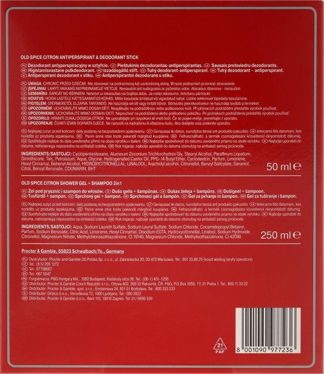 Set - Old Spice Citron (deo/stick/50ml + sh/gel/+shm 2in1/250ml) — Imagine N3
