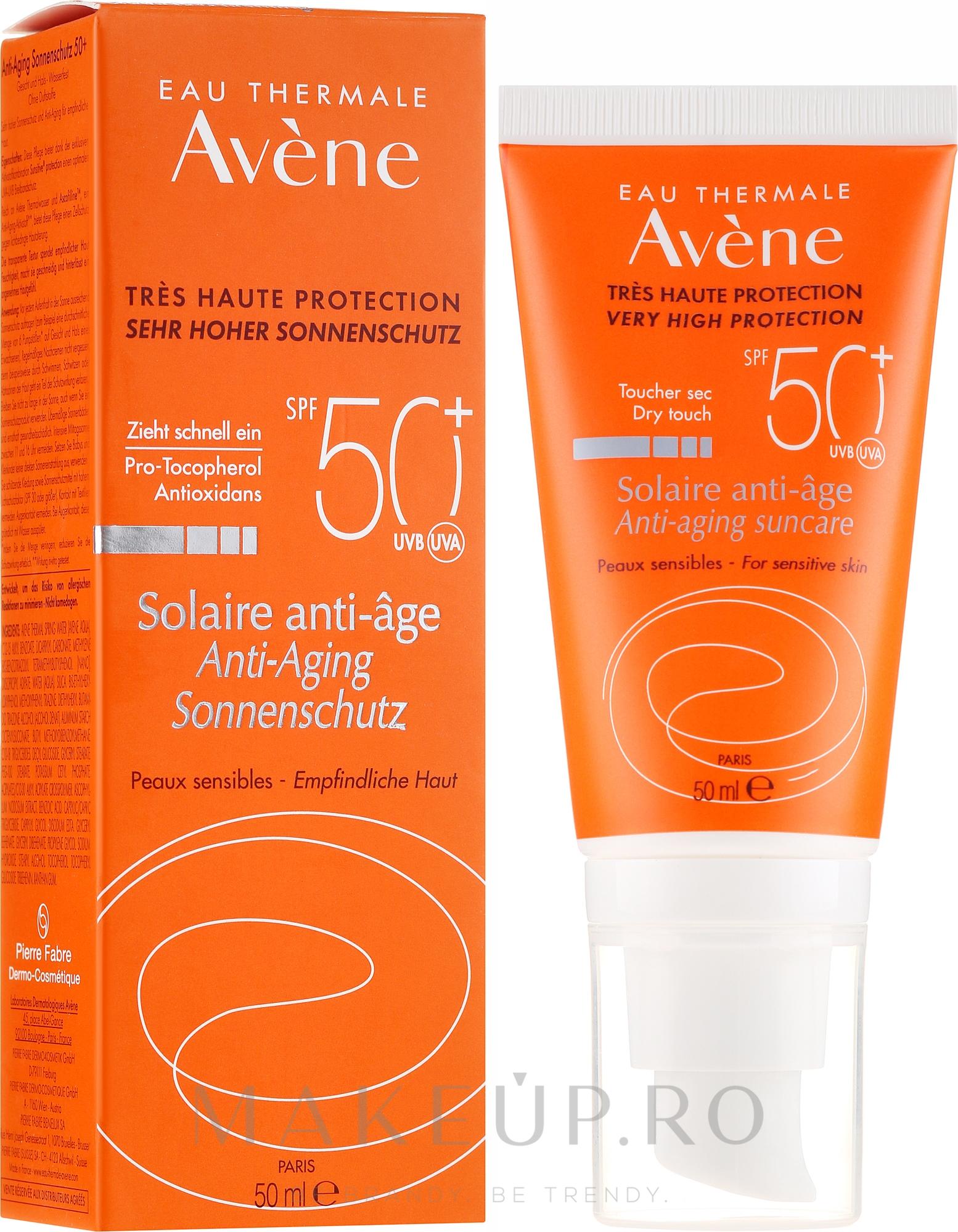 Cremă protecție solară - Avene Solaire Anti-Age SPF 50 + — Imagine 50 ml