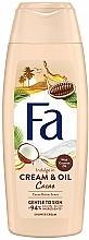 """Parfumuri și produse cosmetice Cremă-Gel de duș """"Ulei de cacao și cocos"""" - Fa Cacao Butter And Coco Oil"""