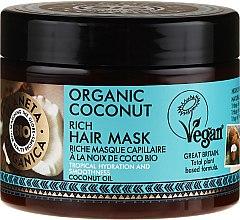 Parfumuri și produse cosmetice Mască de păr - Planeta Organica Organic Coconut Rich Hair Mask
