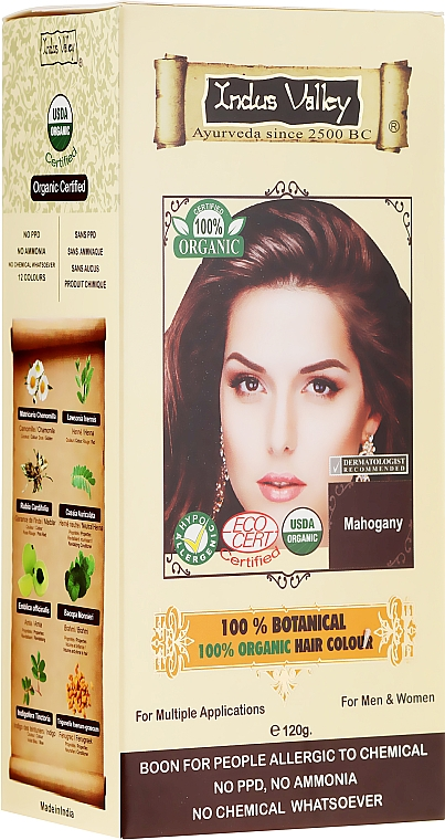 Vopsea de păr - Indus Valley 100% Botanical Hair Colour