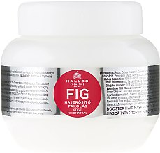 Parfumuri și produse cosmetice Masca pe baza de vitamine pentru păr - Kallos Cosmetics FIG Booster Hair Mask With Fig Extract