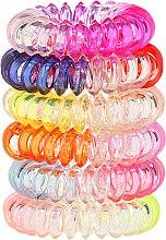 Parfumuri și produse cosmetice Set elastice de păr Wire 6 buc., 22562 - Top Choice