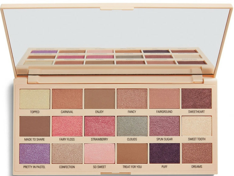 Paletă farduri de ochi - I Heart Revolution Cotton Candy Chocolate Eyeshadow Palette