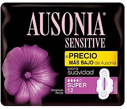 Parfumuri și produse cosmetice Absorbante, 12 buc - Ausonia Sensitive Super With Wings