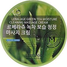 Parfumuri și produse cosmetice Cremă pentru masajul ochilor - Lebelage Green Tea Moisture Cleaning Massage Cream
