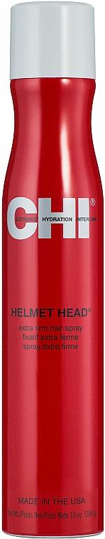 Lac de păr cu fixare extra puternică - CHI Helmet Head Extra Firm Hair Spray — Imagine N1