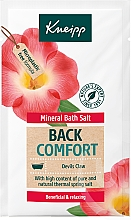 """Parfumuri și produse cosmetice Sare de baie """"Întoarcerea confortului"""" - Kneipp Mineral Bath Salt Back Comfort Devils Claw"""