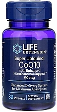 "Parfumuri și produse cosmetice Supliment alimentar ""Coenzima Q10"", 50 mg - Life Extension Super Ubiquinol CoQ10 with Enhanced Mitochondrial Support"
