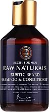 Parfumuri și produse cosmetice Șampon-balsam pentru barbă - Recipe For Men RAW Naturals Rustic Beard Shampoo & Conditioner