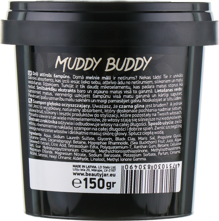 "Șampon de păr ""Muddy Buddy"" - Beauty Jar Extra Cleansing Shampoo — Imagine N3"