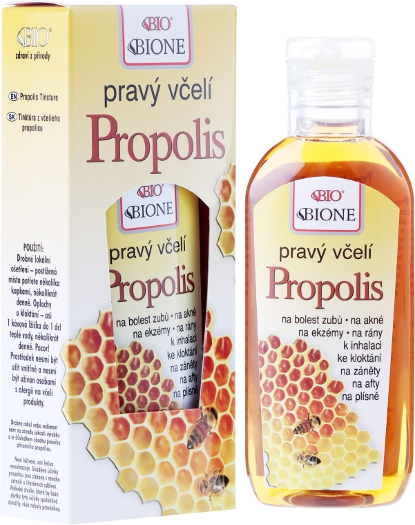 Balsam cu extract de propolis pentru corp - Bione Cosmetics Honey + Q10 Pure Bee Propolis