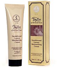 "Parfumuri și produse cosmetice Cremă hidratantă ""Lemn de santal"" - Taylor of Old Bond Street Sandalwood Moisturising Cream"