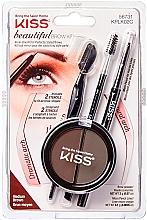 Parfumuri și produse cosmetice Set pentru sprâncene - Kiss Beautiful Brow Kit