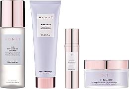 Parfumuri și produse cosmetice Set - Monat Be Balanced (cr/45ml + foam/120ml + ser/30ml + essence/120ml)