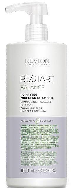 Șampon pentru scalpul sensibil - Revlon Professional Restart Balance Purifying Micellar Shampoo — Imagine N2